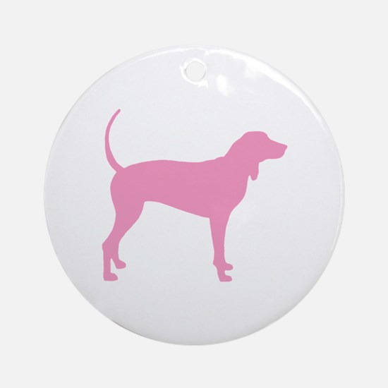 Pink Coonhound Ornament (Round)