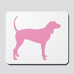Pink Coonhound Mousepad