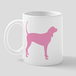 Pink Coonhound Mug
