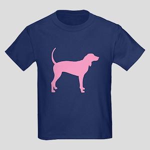 Pink Coonhound Kids Dark T-Shirt