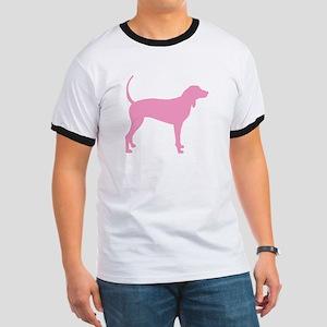 Pink Coonhound Ringer T