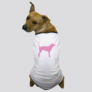 Pink Coonhound Dog T-Shirt