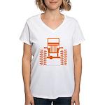 orange big wheel Women's V-Neck T-Shirt