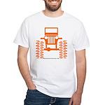 orange big wheel White T-Shirt