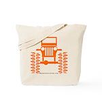 orange big wheel Tote Bag