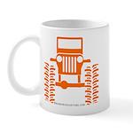 orange big wheel Mug