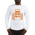 orange big wheel Long Sleeve T-Shirt