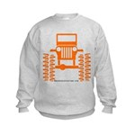 orange big wheel Kids Sweatshirt