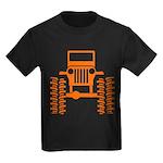 orange big wheel Kids Dark T-Shirt
