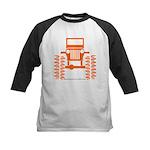 orange big wheel Kids Baseball Jersey