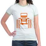 orange big wheel Jr. Ringer T-Shirt