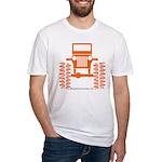 orange big wheel Fitted T-Shirt