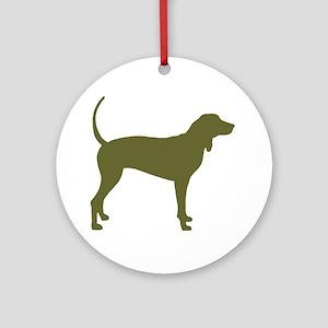 Olive Coonhound Ornament (Round)