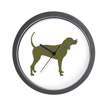 Olive Coonhound Wall Clock