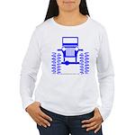 blue big wheel Women's Long Sleeve T-Shirt