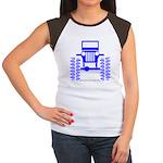 blue big wheel Women's Cap Sleeve T-Shirt