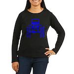 blue big wheel Women's Long Sleeve Dark T-Shirt