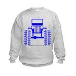 blue big wheel Kids Sweatshirt