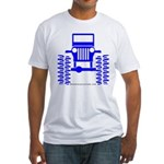 blue big wheel Fitted T-Shirt