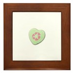 Candy Heart with Recycling Symbol Framed Tile