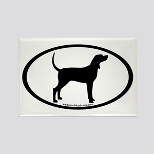 Coonhound #2 Oval Rectangle Magnet