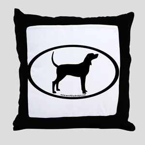 Coonhound #2 Oval Throw Pillow