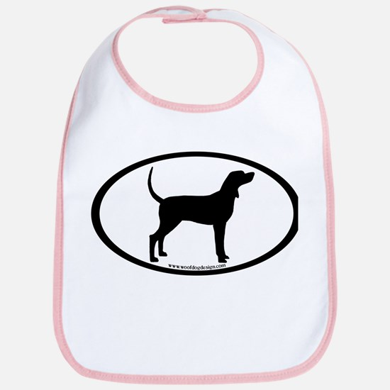 Coonhound #2 Oval Bib