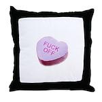 Fuck Off Candy Heart Throw Pillow