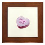 Fuck Off Candy Heart Framed Tile