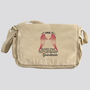 My Grandmom Is My Guardian Angel Messenger Bag
