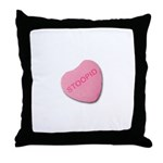 Stoopid Candy Heart Throw Pillow