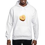 Dollar Symbol on a Candy Heart Hooded Sweatshirt