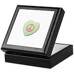 Peace Symbol on a Candy Heart Keepsake Box