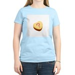 Question Mark on a Candy Heart Women's Light T-Shi
