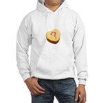 Question Mark on a Candy Heart Hooded Sweatshirt