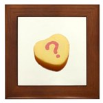 Question Mark on a Candy Heart Framed Tile