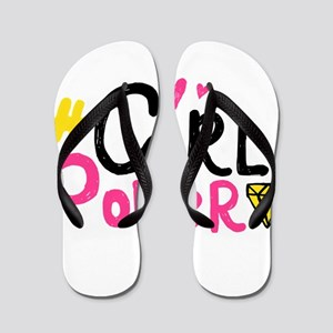Girl Power Flip Flops