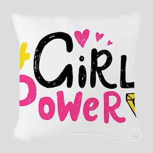 Girl Power Woven Throw Pillow