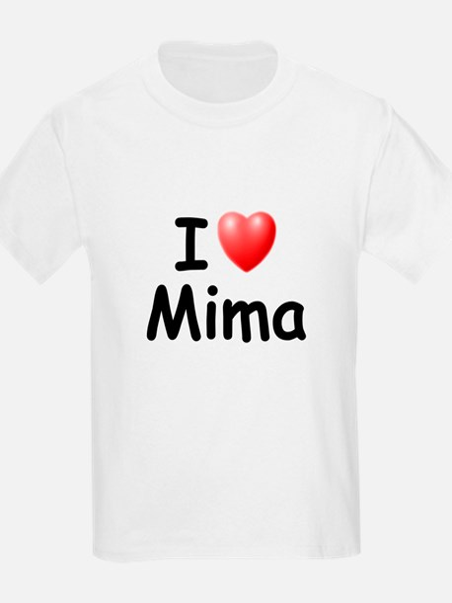 I Love Mima (Black) T-Shirt
