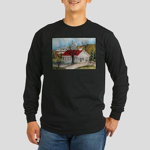 Lancaster Schoolhouse Long Sleeve Dark T-Shirt