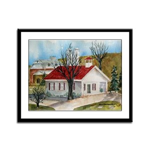 Lancaster Schoolhouse Framed Panel Print
