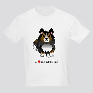 Tri Color Sheltie Kids Light T-Shirt
