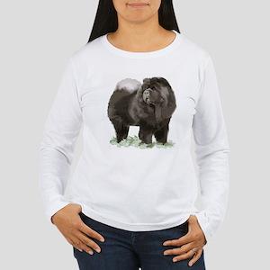 black chow portrait Women's Long Sleeve T-Shirt