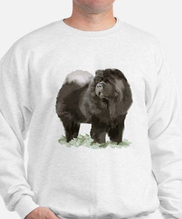 black chow portrait Sweatshirt