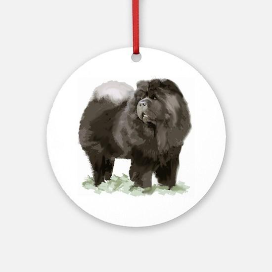 black chow portrait Ornament (Round)