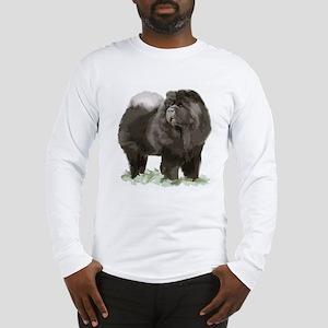 black chow portrait Long Sleeve T-Shirt