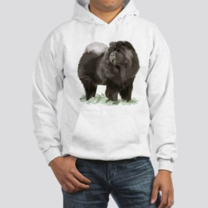 black chow portrait Hooded Sweatshirt