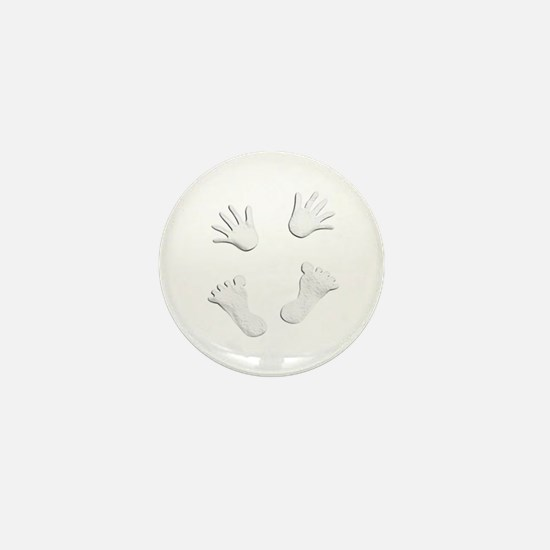 Cute Footprints Mini Button