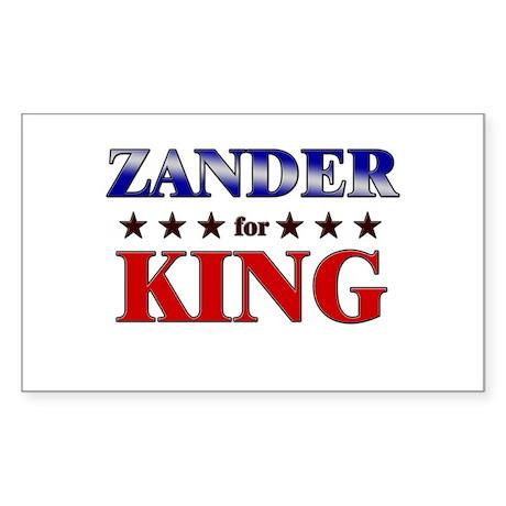 ZANDER for king Rectangle Sticker