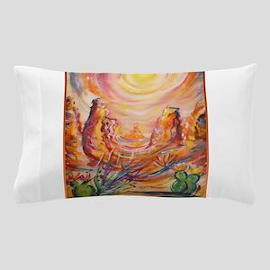 Colorful landscape, southwest art Pillow Case